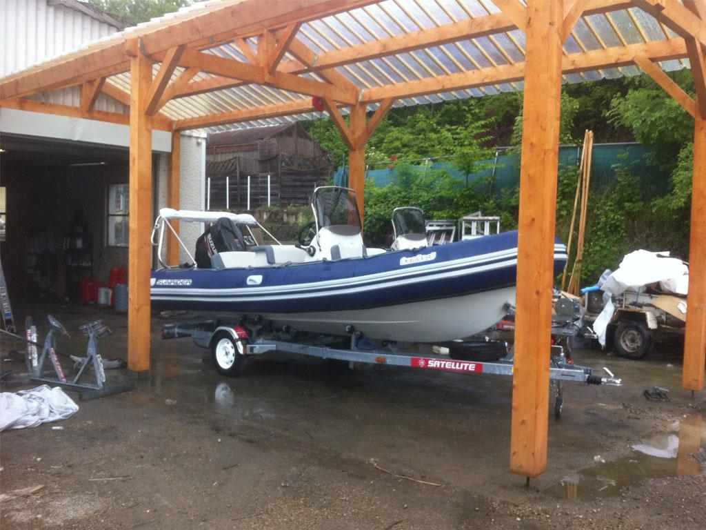 Maison ossature bois abris jardin piscine voiture voiron - Abri pour bateau ...