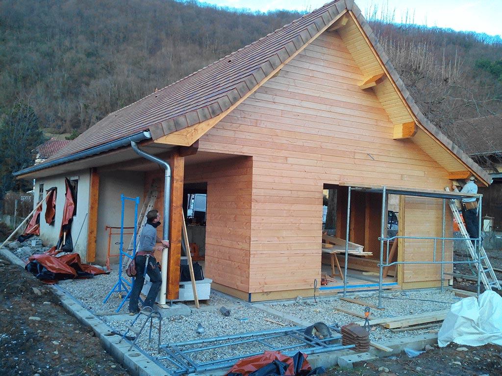 Maison ossature bois abris jardin piscine voiture Voiron Is u00e8re 38 # Maison Ossature Bois Isere